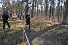 Natalia Ciechomska na trasie biegu